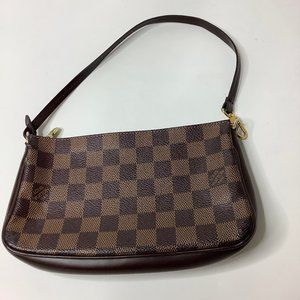 LOUIS VUITTON Damier Ebene Navona Pochette Bag